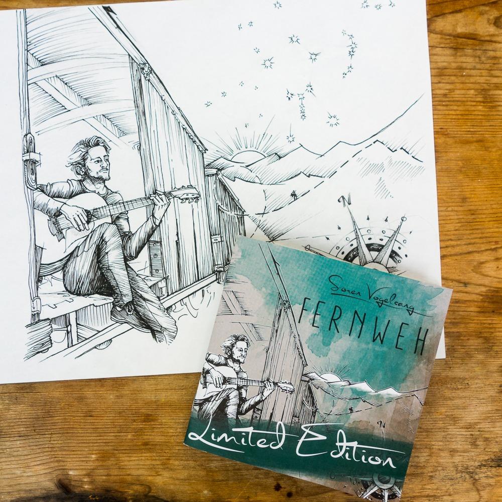 """CD-Design """"Fernweh"""" – thx Sören Vogelsang…"""
